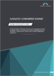 Catalytic Converter Market by Type (FWCC, TWCC, SCR, DOC, and LNT), Material (Platinum, Palladium, and Rhodium), Vehicle Type (Passenger Cars, LCV, Bus & Truck, Construction, and Agriculture & Mining), Aftermarket and Region - Global Forecast to 2025