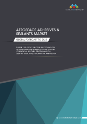 Aerospace Adhesives & Sealants Market by Resin Type (Epoxy, Silicone, PU), Technology (Solvent-based, Water-based), End-use Industry (Commercial, Military, General Aviation), User Type (OEM, MRO), Aircraft Type, and Region - Global Forecast to 2023