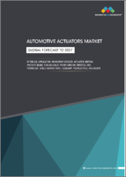 Automotive Actuators Market by Vehicle, Application, On-Highway Vehicle, Actuation, Motion, Product (Brake, Cooling Valve, Power Window, Throttle, EGR, Power Seat, Grille Shutter, HVAC, Headlamp, Piezoelectric), and Region - Global Forecast to 2027