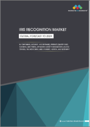 Iris Recognition Market by Component (Hardware, and Software), Product (Smartphones, Scanners), Application (Identity Management and Access Control, Time Monitoring, E-payment), Vertical, and Region - Global Forecast to 2024