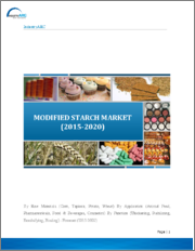 Modified Starch Market: By types of modified starch; By functions; By End User Industry; By raw materials; By Production methods; By Geography - Forecast 2018-2023