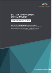 Battery Management System Market by Battery Type (Lithium Ion, Advanced Lead-acid), Topology (Centralized, Modular, Distributed), Type, Application (Automotive, UPS, Telecommunications, Renewable Energy Systems), and Geography - Global Forecast to 2024