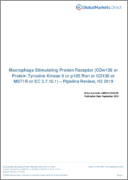 Macrophage Stimulating Protein Receptor (CDw136 or Protein Tyrosine Kinase 8 or p185 Ron or CD136 or MST1R or EC 2.7.10.1) - Pipeline Review, H1 2019