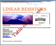 Linear Resistors: World Markets, Technologies & Opportunities: 2019-2024