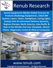 Dental Equipments Market Global Forecast by Products, Regions (Europe, North America, Asia-Pacific & Rest of the World), End User, Companies