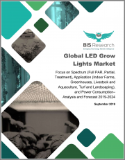Global LED Grow Lights Market: Focus on Spectrum (Full PAR, Partial, Treatment), Application (Indoor Farms, Greenhouses, Livestock and Aquaculture, Turf and Landscaping), and Power Consumption - Analysis and Forecast, 2019-2024