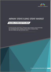 Airway Stent/Lung Stent Market by Type (Tracheal, Bronchial, Laryngeal Stent), Product (Non-Expandable, Self-Expandable Stents), Material (Metal (Nitinol, Stainless Steel), Silicone, Hybrid), End User (Hospitals, ASCs) - Global Forecast to 2024