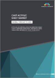 Cast Acrylic Sheet Market by Type (Cell, and Continuous), Application (Sanitary Ware, Signage & Display, Architecture & Interior Design, Transportation, Medical, Food &Catering), and Region (APAC, Europe, NA, ME&A, and SA) - Global Forecast to 2024