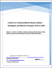 Lithium Ion Battery Cathodes: Market Shares, Strategies and Forecasts, Worldwide 2019 to 2024