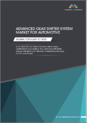 Advanced Gear Shifter System Market for Automotive by Technology (Automatic Shifter, Shift-by-Wire), Component (CAN Module, ECU, Solenoid Actuator), Vehicle Type (Light Duty Vehicles, Commercial Vehicles), EV Type, and Region - Global Forecast to 2025