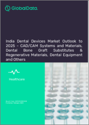 India Dental Devices Market Outlook to 2025 - CAD/CAM Systems and Materials, Dental Bone Graft Substitutes & Regenerative Materials, Dental Equipment and Others.