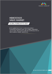 Hemostasis Valve Market by Type (Hemostasis Valve Y Connector, Double Y Connector Hemostasis Valve, One Handed), Application (Angioplasty, Angiography), End User (Hospitals), and Region (North America, Europe, Asia Pacific) - Global Forecast to 2023