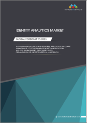 Identity Analytics Market by Component (Solution and Services), Application (Account Management, Customer Management, Fraud Detection, and GRC Management), Deployment Mode, Organization Size, Industry Vertical, and Region - Global Forecast to 2023