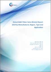 Global BAW Filters Sales Market Report 2019 by Manufacturer, Region, Type and Application