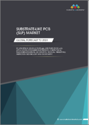 Substrate-Like PCB Market by Line/Spacing, Inspection Technology (Automated Optical Inspection, Direct Imaging, Automated Optical Shaping), Application, and Geography - Global Forecast to 2024