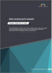 Feed Acidulants Market by Type (Propionic Acid, Formic Acid, Citric Acid, Lactic Acid, Sorbic Acid, Malic Acid, and Acetic Acid), Animal Type (Poultry, Ruminants, Swine, Aquaculture, Pets, and Equine), Compound, Form, and Region-Global Forecast to 2023