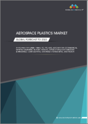 Aerospace Plastics Market by Polymer Type (PEEK, PMMA, PC, PPS, ABS), Aircraft Type (Commerical, General & Business, Military, Rotary), Application (Cabin Windows & windshield, Cabin Lighting, Overhead Storage Bins), and Region - Global Forecast to 2023