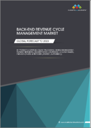Back-end Revenue Cycle Management Market by Product and Services (Claim Processing, Denial Management, Payment Integrity), Delivery Mode (On-Premise, Cloud Based), End-User (Payer, Provider (Inpatient, Outpatient)), and Region - Global Forecast to 2023