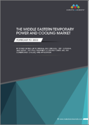 Middle Eastern Temporary Power and Cooling Market by Power Rating (Up To 500kVA, 501-1,000 kVA, 1,001-1,250 kVA, and Above 1,250 kVA), Equipment (Cooling Tower, AHU, Air Conditioner, Chiller), Application, and Region - Forecast to 2023