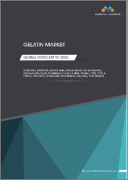 Gelatin Market by Source (Porcine, Bovine Skin, Bovine Bone, Fish & Poultry), Application (Food, Pharmaceuticals & Healthcare), Type (Type A, Type B), Function (Stabilizing, Thickening, Gelling), and Region - Global Forecast to 2023