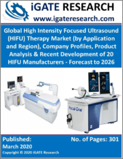 Global High Intensity Focused Ultrasound (HIFU) Therapy Market (by Application and Region), Company Profiles, Product Analysis & Recent Development of 20 HIFU Manufacturers - Forecast to 2026