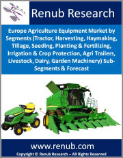 Europe Agriculture Equipment Market by Segments (Tractor, Harvesting, Haymaking, Tillage, Seeding, Planting & Fertilizing, Irrigation & Crop Protection, Agri Trailers, Livestock, Dairy, Garden Machinery) Sub-Segments & Forecast