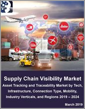 Supply Chain Visibility Market: Asset Tracking and Traceability Market by Technology (Location Tech, IoT, Blockchain), Infrastructure, Connection Type (Wired, 3G, 4G, 5G, WiFi and WiMAX), Mobility, Industry Verticals and Regions 2019 - 2024