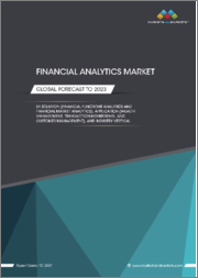 Financial Analytics Market by Solution (Financial Functions Analytics and Financial Market Analytics), Application (Wealth Management, Transaction Monitoring, and Customer Management), and Industry Vertical - Global Forecast to 2023