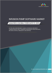 Infusion Pump Software Market by Type (DERS, Interoperability, Clinical Workflow), Indication (General Infusion, Pain & Anesthesia Management, Insulin Infusion), End User (Hospitals, Ambulatory Care Settings) - Global Forecasts to 2024