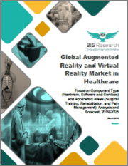 Global Augmented Reality and Virtual Reality Market in Healthcare: Focus on Component Type (Hardware, Software and Services) and Application Areas (Surgical Training, Rehabilitation, and Pain Management): Analysis and Forecast, 2019-2025