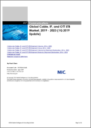 Global Cable, IP, and OTT STB Market, 2019 - 2023 (1Q 2019 Update)