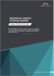 Residential Energy Storage Market by Power Rating (3-6 kW & 6-10 kW), Connectivity (On-Grid & Off-Grid), Technology (Lead-Acid & Lithium-Ion), Ownership (Customer, Utility, & Third-Party), Operation (Standalone & Solar), Region - Global Forecast to 2024