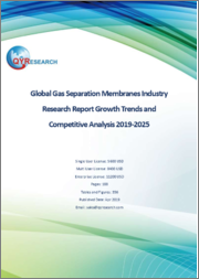 Global Gas Separation Membranes Industry Research Report Growth Trends and Competitive Analysis 2019-2025