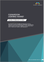 Cleanroom Lighting Market by Light Source (LED and Fluorescent), Offering (Hardware, Software, and Services), End User (Healthcare & Life Sciences, Industrial Manufacturing, Food & Beverages), Mounting Type, and Geography - Global Forecast to 2024