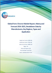 Global Ferro Chrome Market Report, History and Forecast 2014-2025, Breakdown Data by Manufacturers, Key Regions, Types and Application
