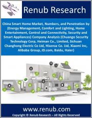 China Smart Home Market, Numbers, and Penetration by (Energy Management, Comfort and Lighting, Home Entertainment, Control and Connectivity, Security and Smart Appliances) Company Analysis