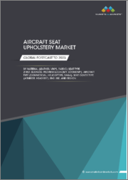 Aircraft Seat Upholstery Market by Material (Leather, Vinyl, Fabric), Seat Cover Type (Headrest, Armrest) Seat Type (First, Business, Premium, Economy), Aircraft Type (Commercial, Business Jets, Helicopters), End Use, & Region - Global Forecast to 2025