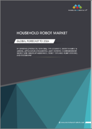 Household Robots Market by Offering (Products, Services), Type (Domestic, Entertainment & Leisure), Application (Vacuuming, Lawn Mowing, Companionship, Elderly and Handicap Assistance, Robot Toys and Hobby Systems), & Geography - Global Forecast to 2024