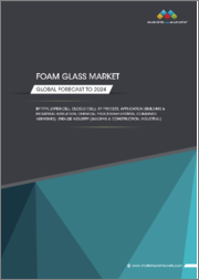Foam Glass Market by Type (open cell and Closed Cell), Process (Physical and Chemical), Application (Building & Industrial Insulation and Chemical Processing Systems), End-Use Industry (Building & Construction and Industrial) - Global Forecast to 2024