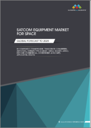 SATCOM Equipment Market for Space by Component (Transponders, Transceivers, Converters, Amplifiers, Antennas), Satellite Type (CubeSat, Small, Medium, Large), End User (Commercial, Government & Military), Application, Region - Global Forecast to 2025