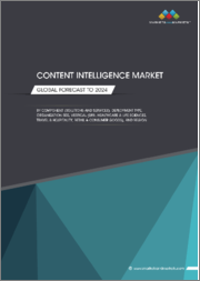 Content Intelligence Market by Component (Solutions, Services), Deployment Type (Cloud, On-Premises, Hybrid), Organization Size, Vertical (BFSI, Healthcare & Life Sciences, Travel & Hospitality), and Region - Global Forecast to 2024