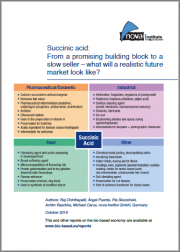 Succinic Acid: From a Promising Building Block to a Slow Seller - What Will a Realistic Future Market Look Like?
