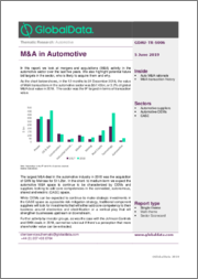M&A in Automotive - Thematic Research