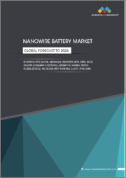 Nanowire Battery Market by Material Type (Silicon, Germanium, Transition Metal Oxides, Gold), Industry (Consumer Electronics, Automotive, Aviation, Energy, Medical Devices), and Region (North America, Europe, APAC, RoW) - Global Forecast to 2026