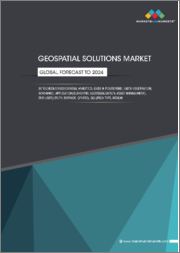 Geospatial Solutions Market by Technology (Earth Observation, Scanning), Solution, End-User (Utility, Business, Transportation, Defense & Intelligence, Infrastructural Development), Application, Region - Global Forecast to 2024