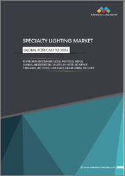Specialty Lighting Market by light source (LED, Halogen Lamps, Xenon Bulbs, Incandescent Lamps), application (Entertainment, Medical, UV Lamps), and Region (North America, Europe, Asia Pacific, RoW) - Global Forecast to 2024