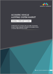 Acoustic Vehicle Alerting System Market by Propulsion Type, Vehicle Type, Electric Two-Wheeler (E-Scooter/Moped, E-Motorcycle), Sales Channel (OEM, Aftermarket), Mounting Position (Integrated, Separated), and Region - Global Forecast to 2027