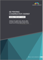 3D Printing Construction Market by Material Type (Concrete, Metal, Composite), Construction Method (Extrusion, Powder Bonding), End-Use Sector (Building, Infrastructure), Region (North America, Europe, APAC, ROW) - Global Forecast to 2024