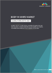 Global Body in White Market by Vehicle Type, Construction (Monocoque, Frame Mounted), Manufacturing Method (Cold Stamping, Hot Stamping, Roll Forming), Material (Steel, Aluminum, Magnesium, CFRP), and Region - Global Forecast to 2027