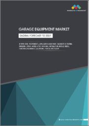 Garage Equipment Market by Type (OEM, Independent), Application (Body Shop, Diagnostic & Testing, Emission, Lifting, Wheel & Tire, Washing), Installation (Mobile, Fixed), Function (Mechanical, Electronic), Vehicle, and Region-Global Forecast to 2027